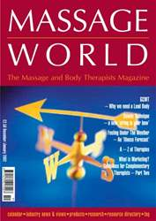 Massage World Dec–Jan 2002 issue Massage World Dec–Jan 2002