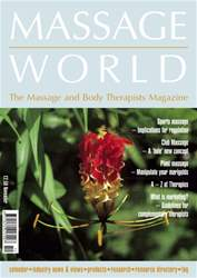 Massage World Nov 2001 issue Massage World Nov 2001