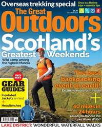 October: Scotland's Best Weekends issue October: Scotland's Best Weekends