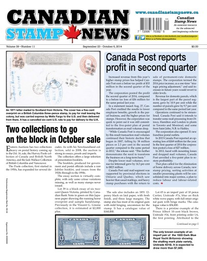 Canadian Stamp News Digital Issue
