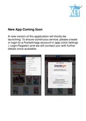 New App Version Coming Soon issue New App Version Coming Soon