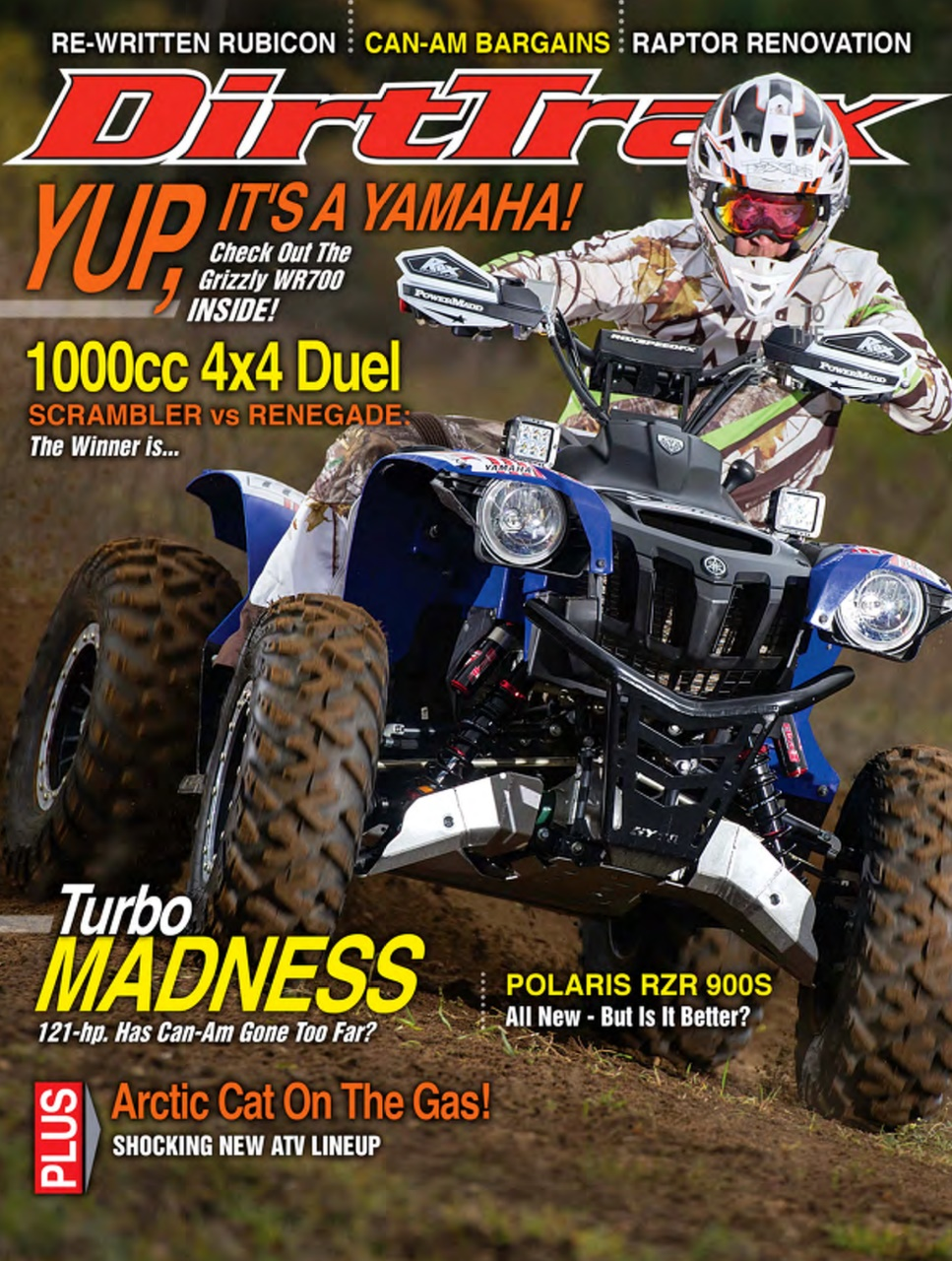 Dirt trax magazine volume 16 2 subscriptions pocketmags for Yamaha grizzly 1000cc