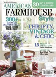 Cottages and bungalows magazine american farmhouse style Spring cottage magazine