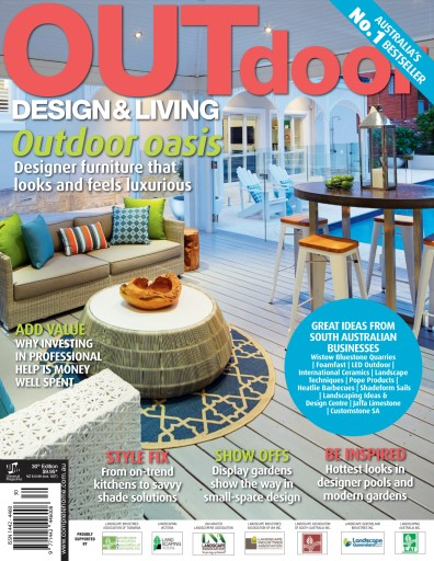Outdoor design living magazine issue 30 2014 for Outdoor living magazine
