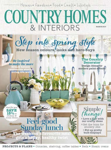 Country Homes Interiors Magazine March 2015 Subscriptions Pocketmags