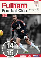 Fulham  Vs. Birmingham City 2014-15 issue Fulham  Vs. Birmingham City 2014-15