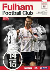 Fulham Vs. Ipswich Town 2014-15 issue Fulham Vs. Ipswich Town 2014-15