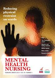 Mental Health Nursing February 2015  issue Mental Health Nursing February 2015