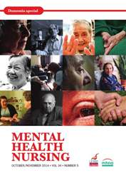 Mental Health Nursing OctoberNovember 2014 issue Mental Health Nursing OctoberNovember 2014