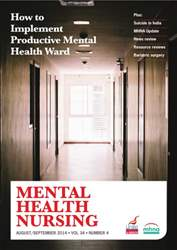 Mental Health Nursing AugustSeptember 2014 issue Mental Health Nursing AugustSeptember 2014