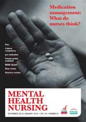 Mental Health Nursing December 2014-January 2015  issue Mental Health Nursing December 2014-January 2015