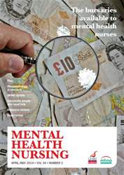 Mental Health Nursing April-May 2014 issue Mental Health Nursing April-May 2014
