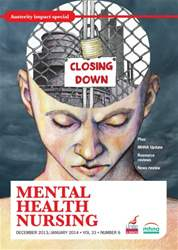 Mental Health Nursing December 2013-January 2014 issue Mental Health Nursing December 2013-January 2014