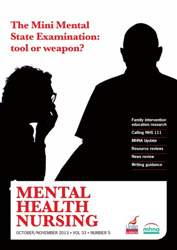 Mental Health Nursing October-November 2013 issue Mental Health Nursing October-November 2013