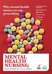 Mental Health Nursing August-September 2013 issue Mental Health Nursing August-September 2013