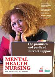 Mental Health Nursing AprilMay 2013 issue Mental Health Nursing AprilMay 2013