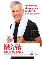 Mental Health Nursing December 2012-January 2013  issue Mental Health Nursing December 2012-January 2013