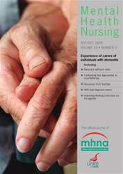 Mental Health Nursing SeptemberOctober 2009 issue Mental Health Nursing SeptemberOctober 2009