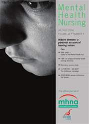 Mental Health Nursing JulyAugust 2008 issue Mental Health Nursing JulyAugust 2008