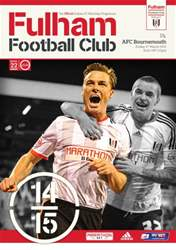 Fulham Vs. AFC Bournemouth 2014-15 issue Fulham Vs. AFC Bournemouth 2014-15