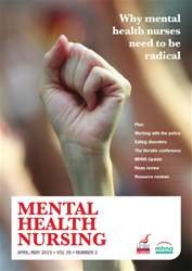 Mental Health Nursing April 2015 issue Mental Health Nursing April 2015