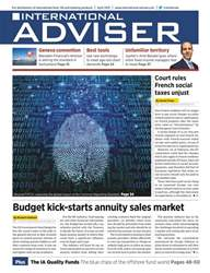 International Adviser Magazine Cover