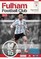 Fulham Vs. Wigan Athletic 2014-15 issue Fulham Vs. Wigan Athletic 2014-15
