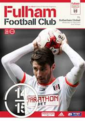 Fulham Vs. Rotherham United 2014-15 issue Fulham Vs. Rotherham United 2014-15
