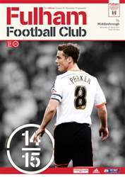 Fulham Vs. Middlesbrough 2014-15 issue Fulham Vs. Middlesbrough 2014-15